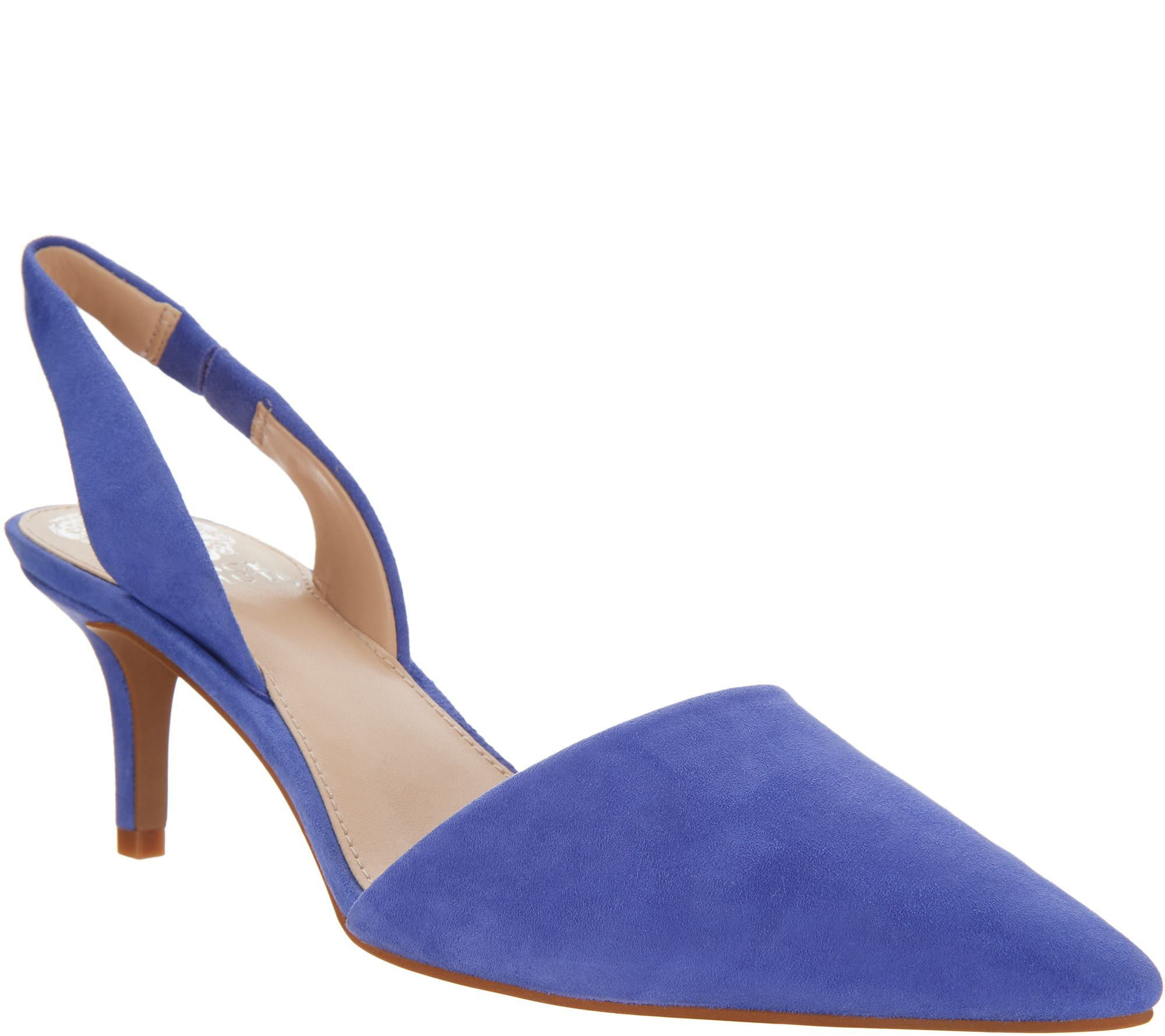 264a3978809 Vince Camuto Leather or Suede Slingback Pumps - Kolissa - Page 1 — QVC.com