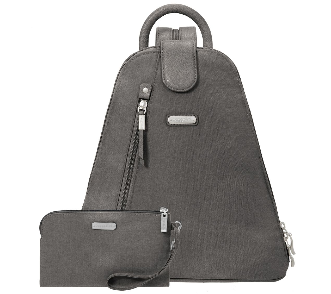 8d66a54e3417 baggallini Metro Backpack with RFID Phone Wristlet - Page 1 — QVC.com