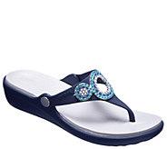 Crocs Thong Sandals - Sanrah Diamante Wedge Flip - A413170