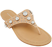 Marc Fisher Thong Sandals w/ Jewel Accents - Gissel - A265271