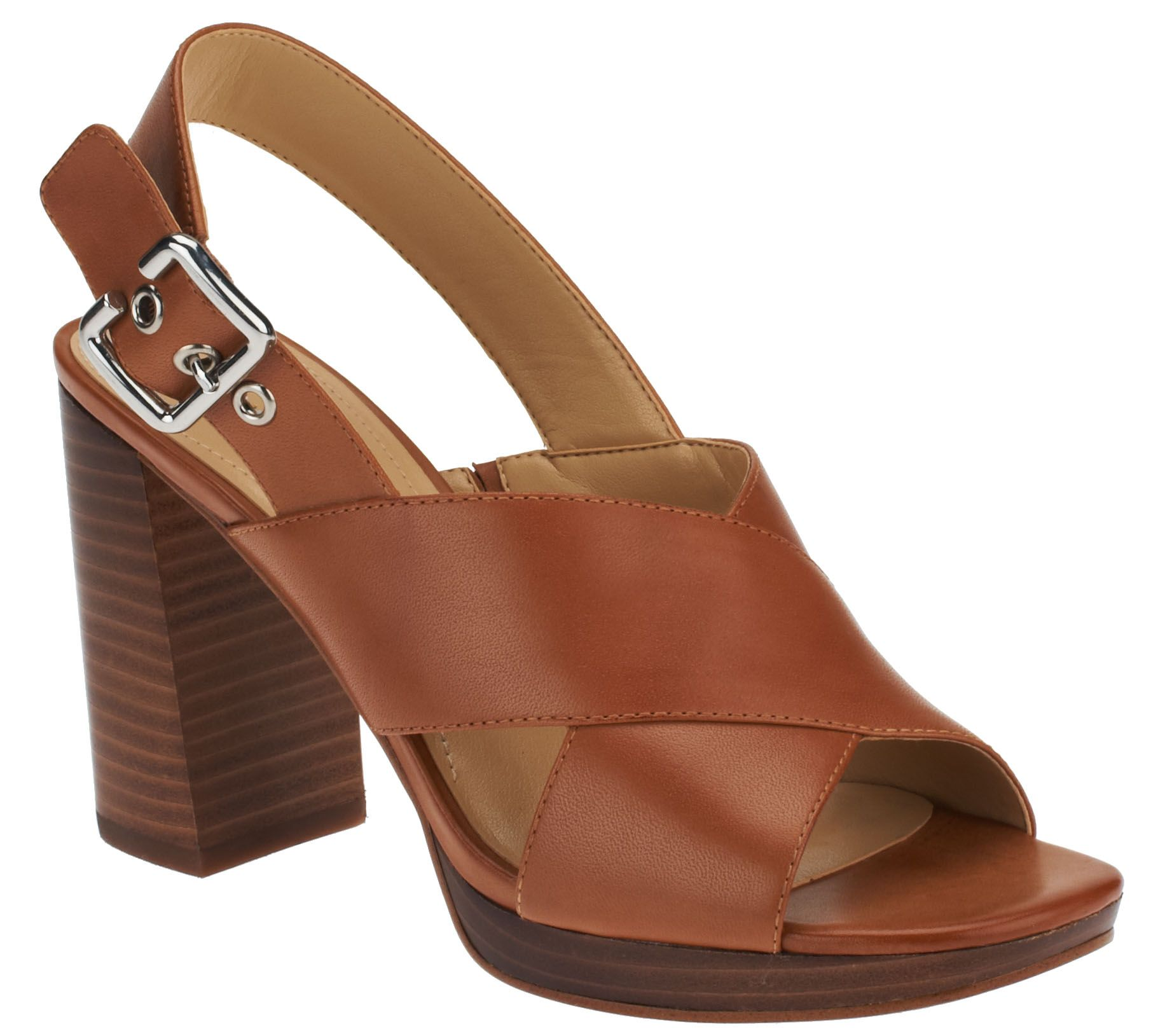 2bf8a6bfdbe7 Marc Fisher Leather Cross-band Sandals - Faithe - Page 1 — QVC.com