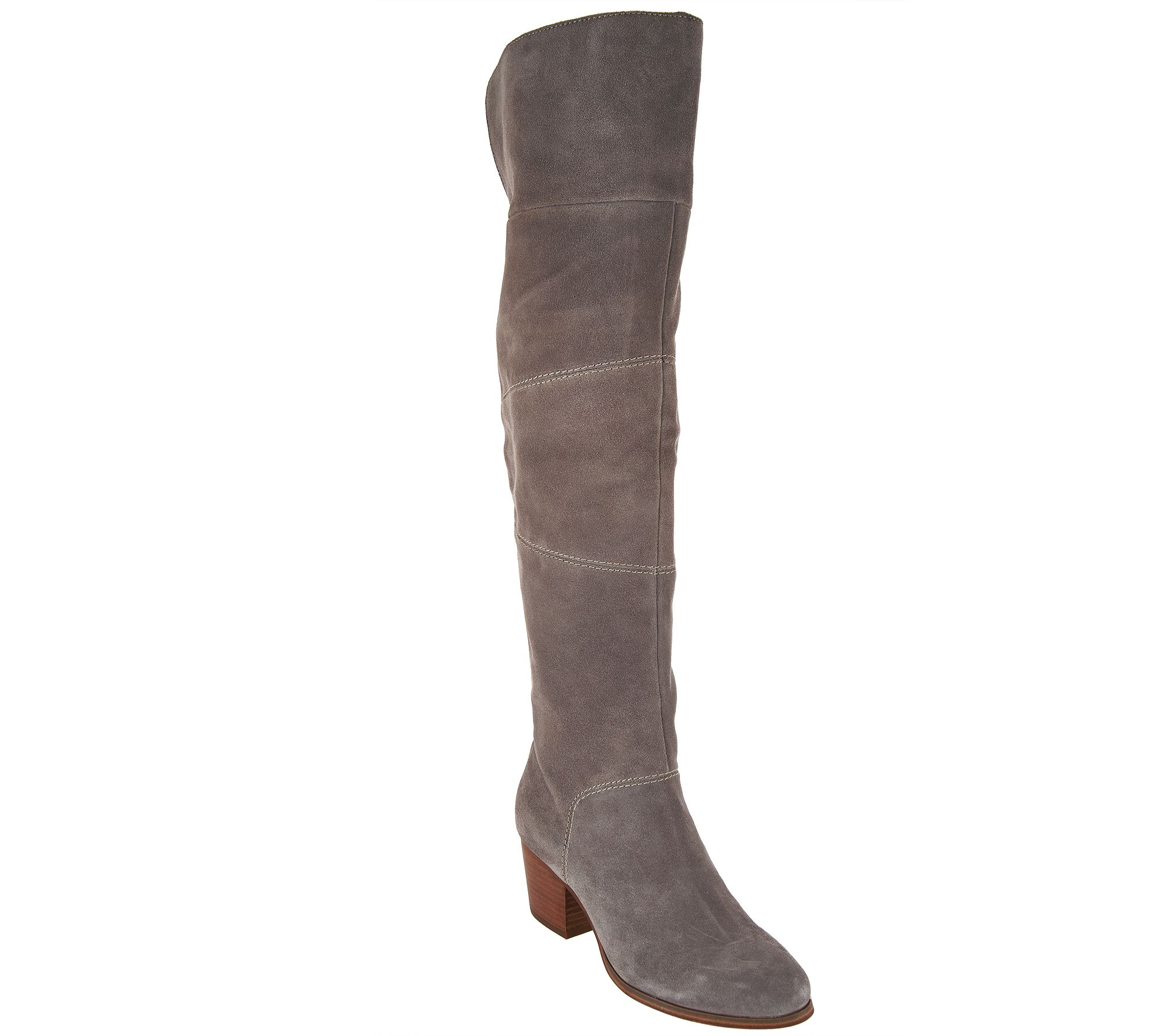 ec54a77e66f Sole Society Suede Over the Knee Boots - Melbourne - Page 1 — QVC.com