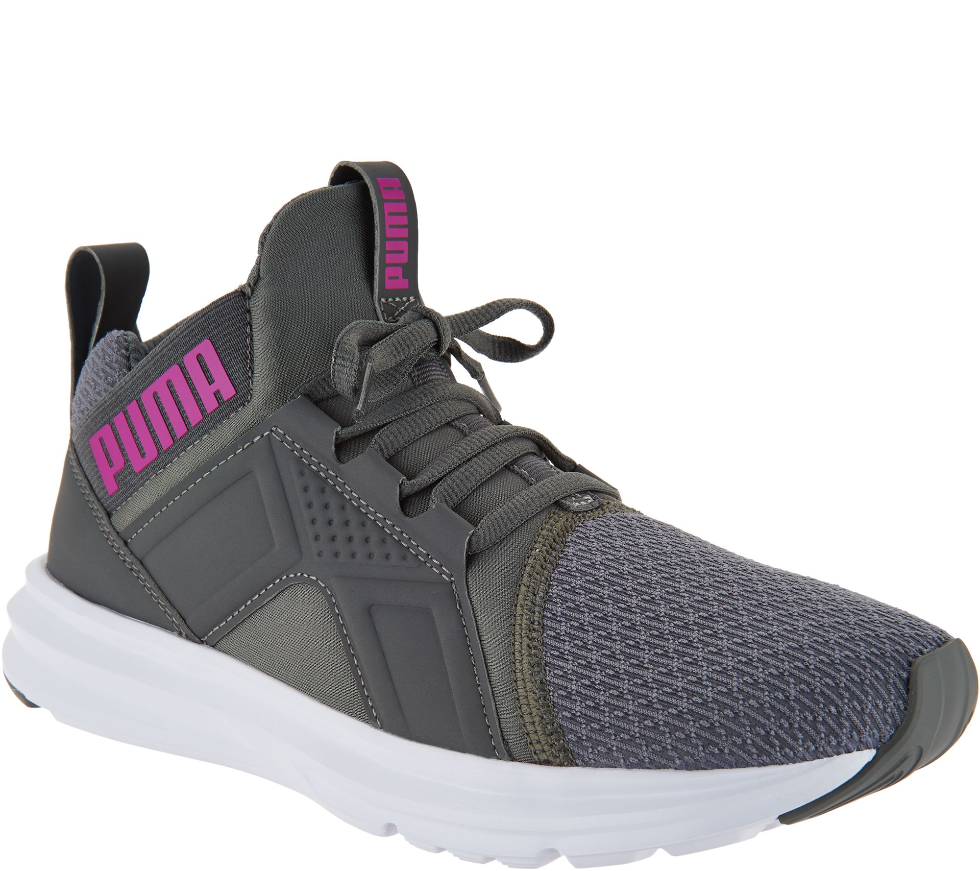 PUMA Mesh Mid Lace-up Sneakers - Enzo - Page 1 — QVC.com 607f8eb47