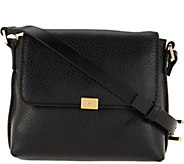 As Is H by Halston Pebble Leather Crossbody Handbag - A294771