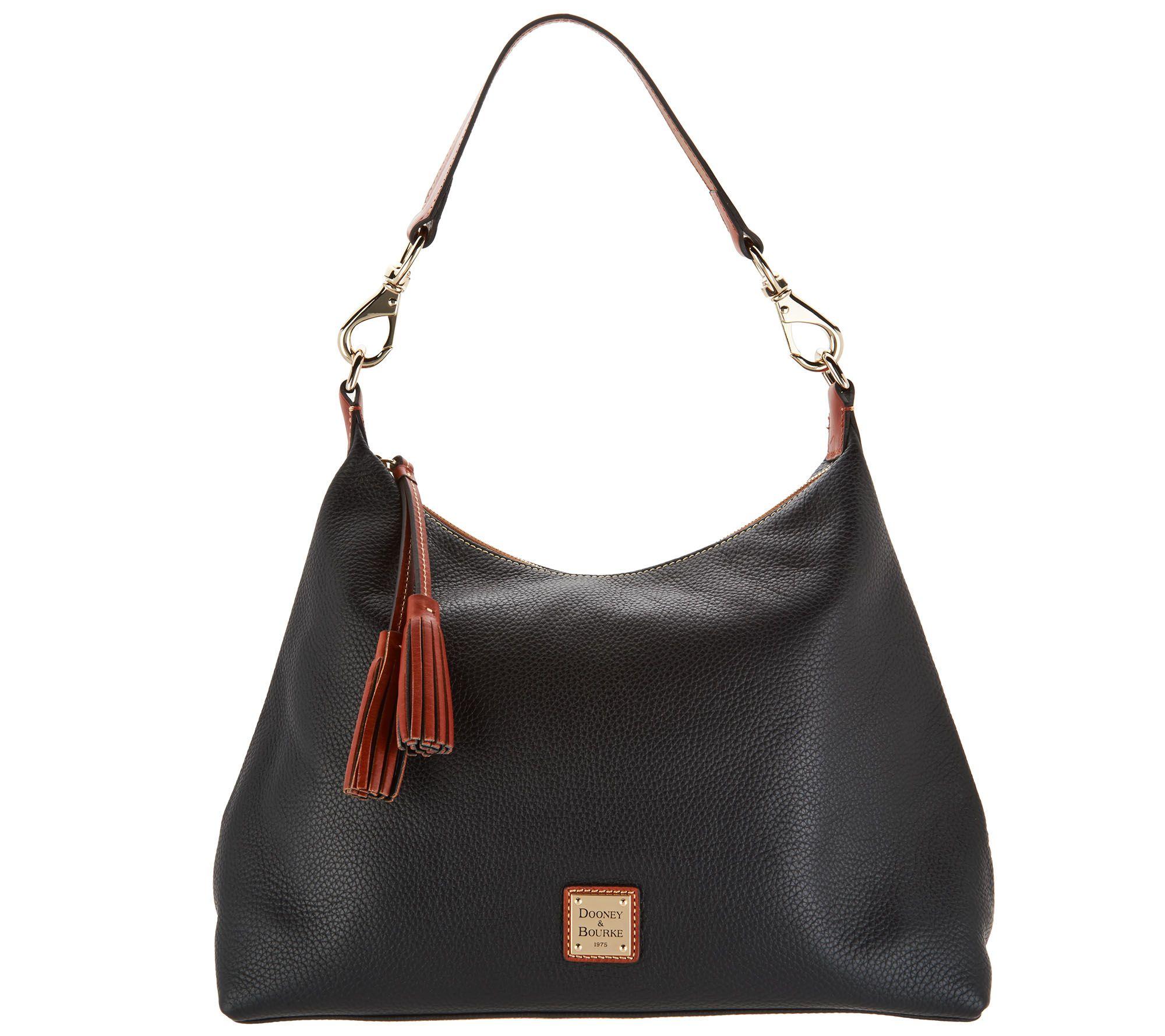 22212ecb4ce0 Dooney & Bourke Pebble Leather Hobo Handbag -Juliette - Page 1 — QVC.com