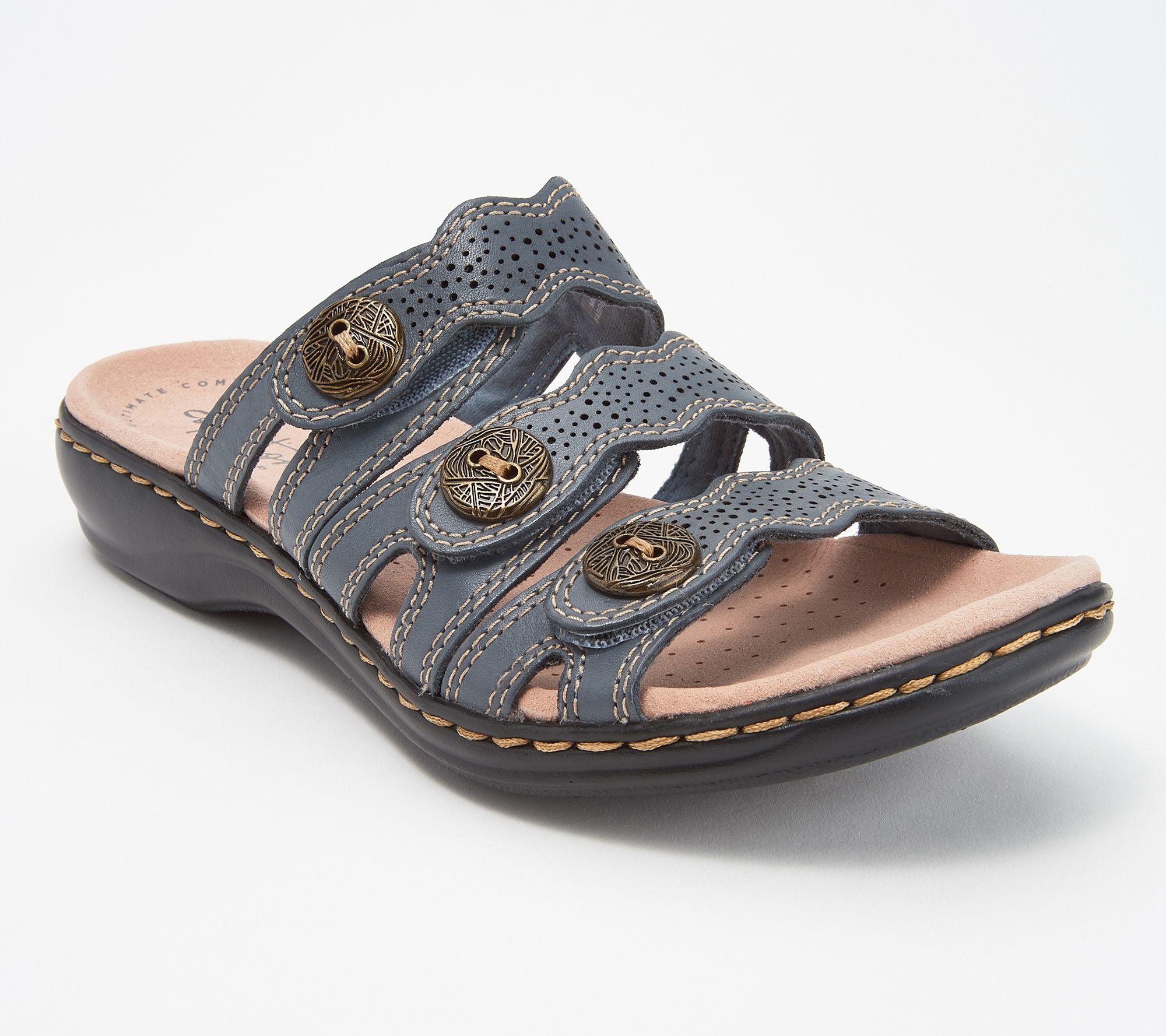 clearance classic big discount for sale Clarks Leather Lightweight Triple Adjust Sandals - Leisa Grace 6CXZf