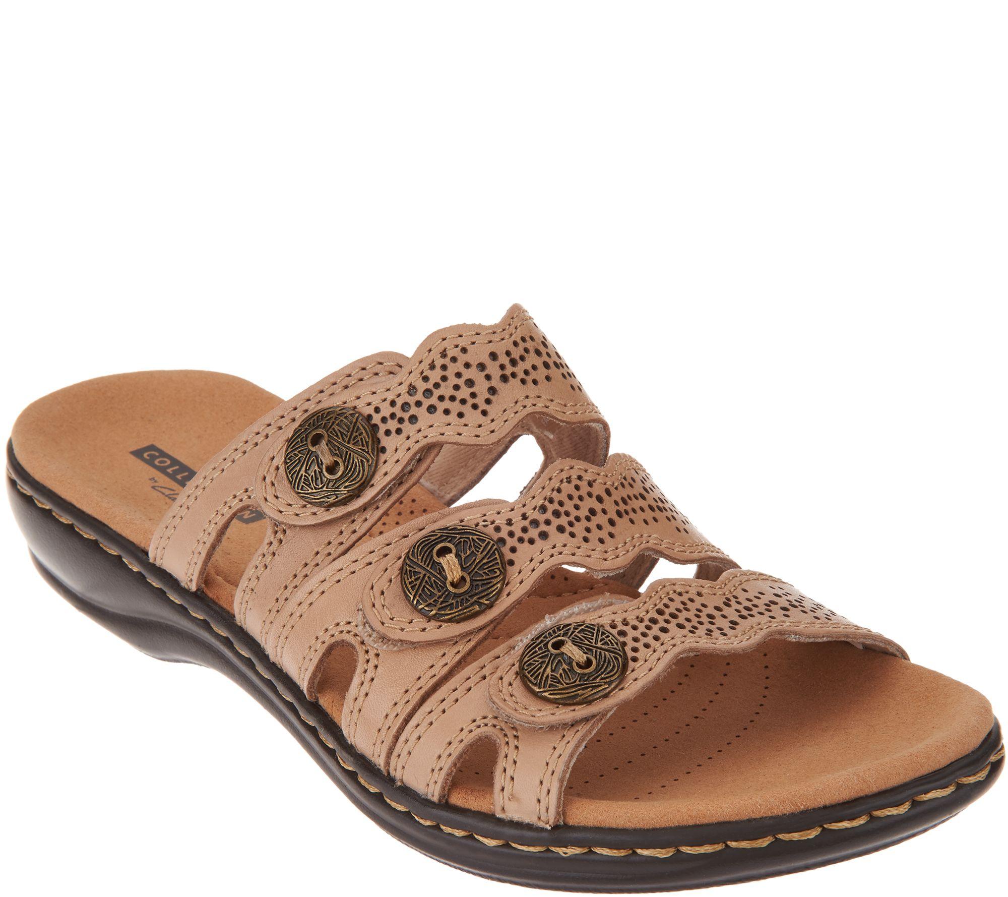 12d7d00222eb Clarks Leather Lightweight Triple Adjust Sandals - Leisa Grace - Page 1 —  QVC.com