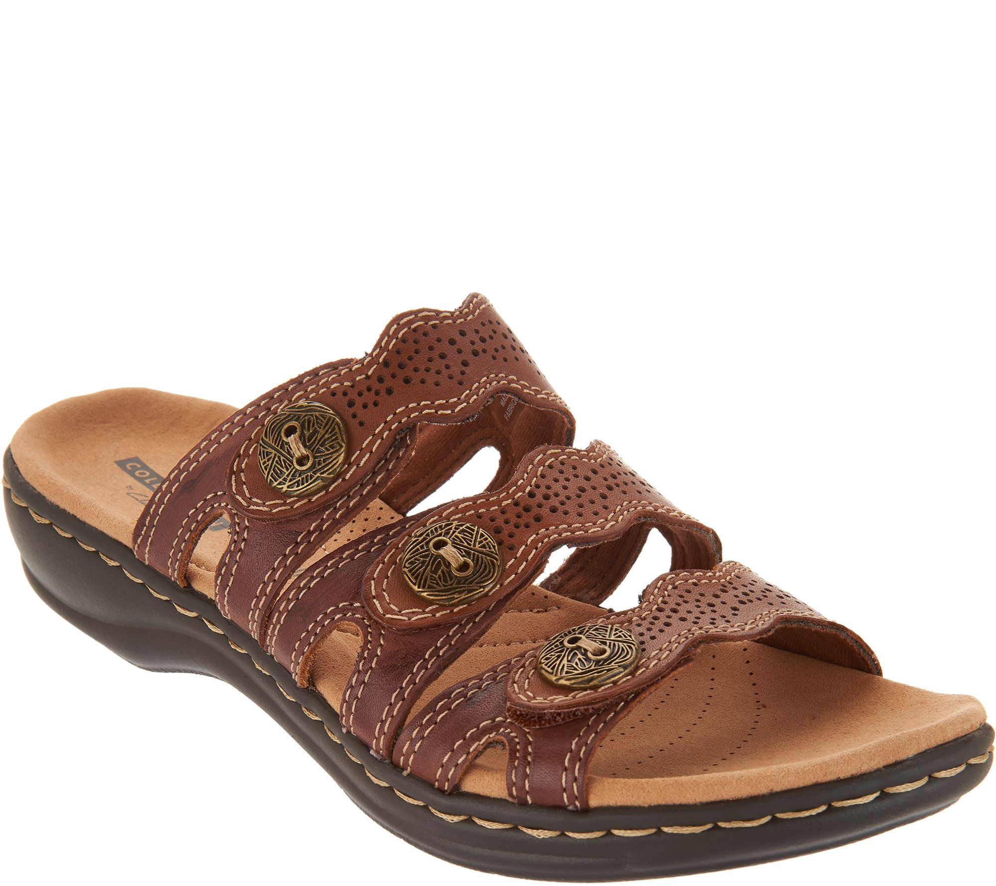 c00abe852ba5 Clarks Leather Lightweight Triple Adjust Sandals - Leisa Grace - Page 1 —  QVC.com