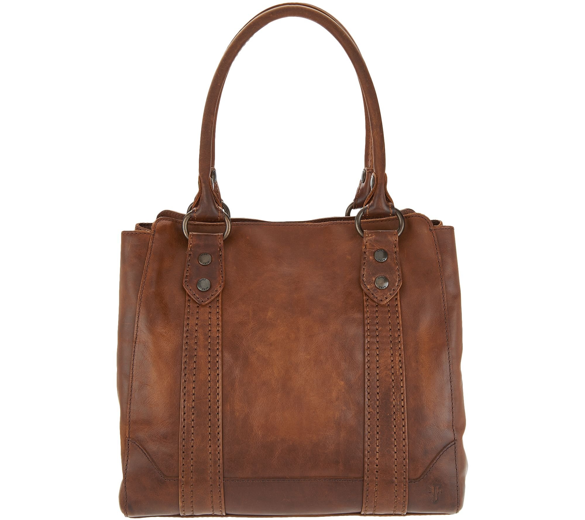 24819f040c44 Frye Leather Melissa Tote - Page 1 — QVC.com