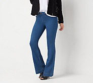 Laurie Felt Regular Silky Denim Pull-On Flare Jeans - A309671