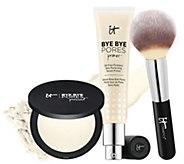 IT Cosmetics Bye Bye Pores Primer and Bye Bye Pores Powder w/ Brush - A311171
