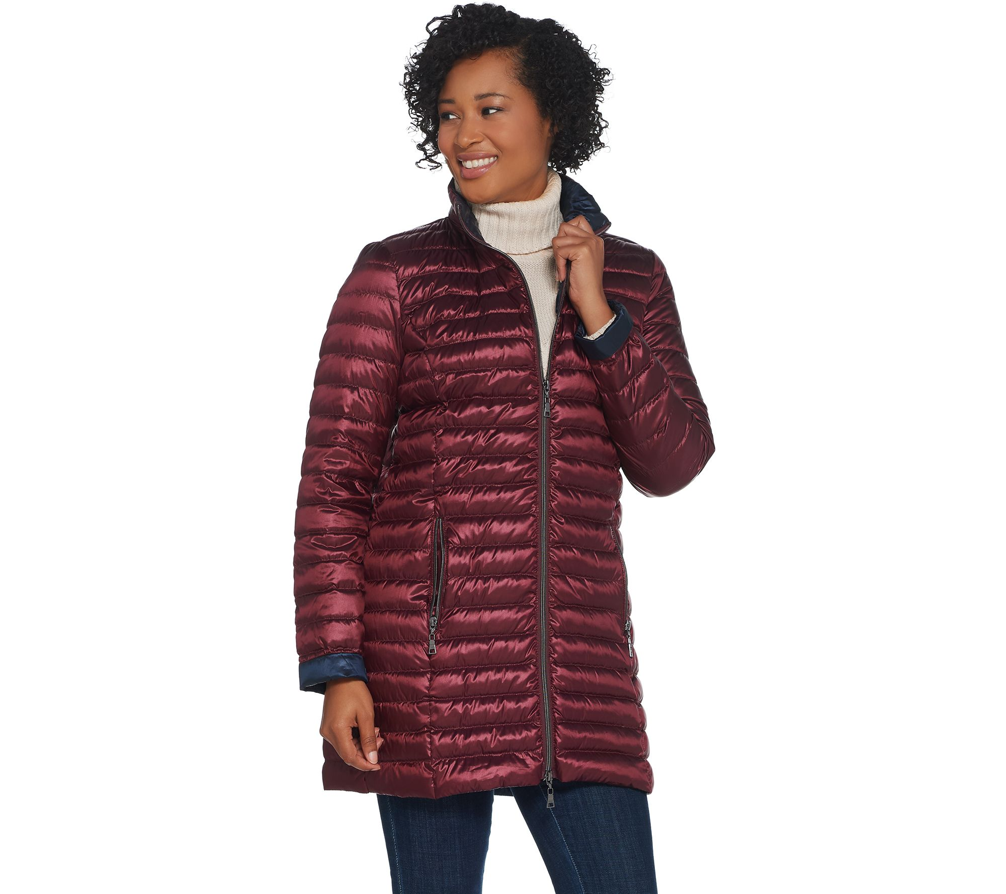 fe4e2f8a026 Nuage Packable Jacket with Removable Hood - Page 1 — QVC.com