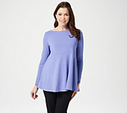Joan Rivers Jersey Knit Swing Top with Side Pockets - A347271