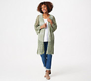Isaac Mizrahi Live! Lace Open Front Duster - A352271