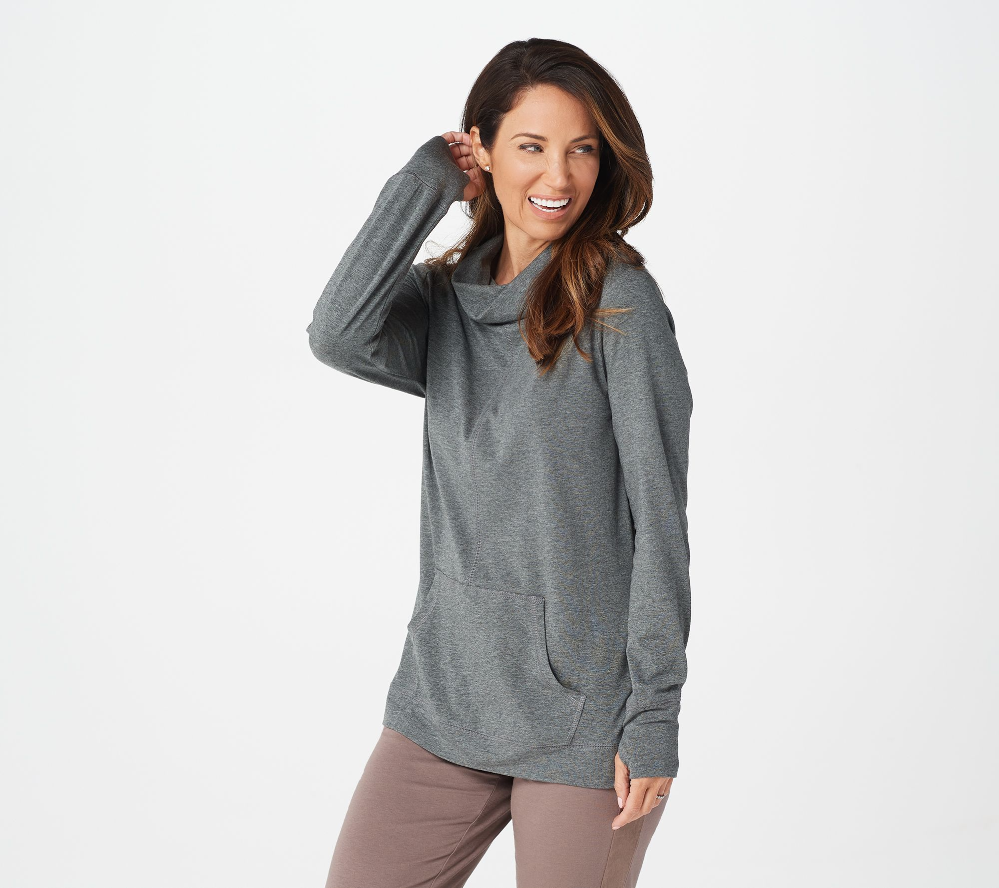 50% off cozy knit cowl neck pullover