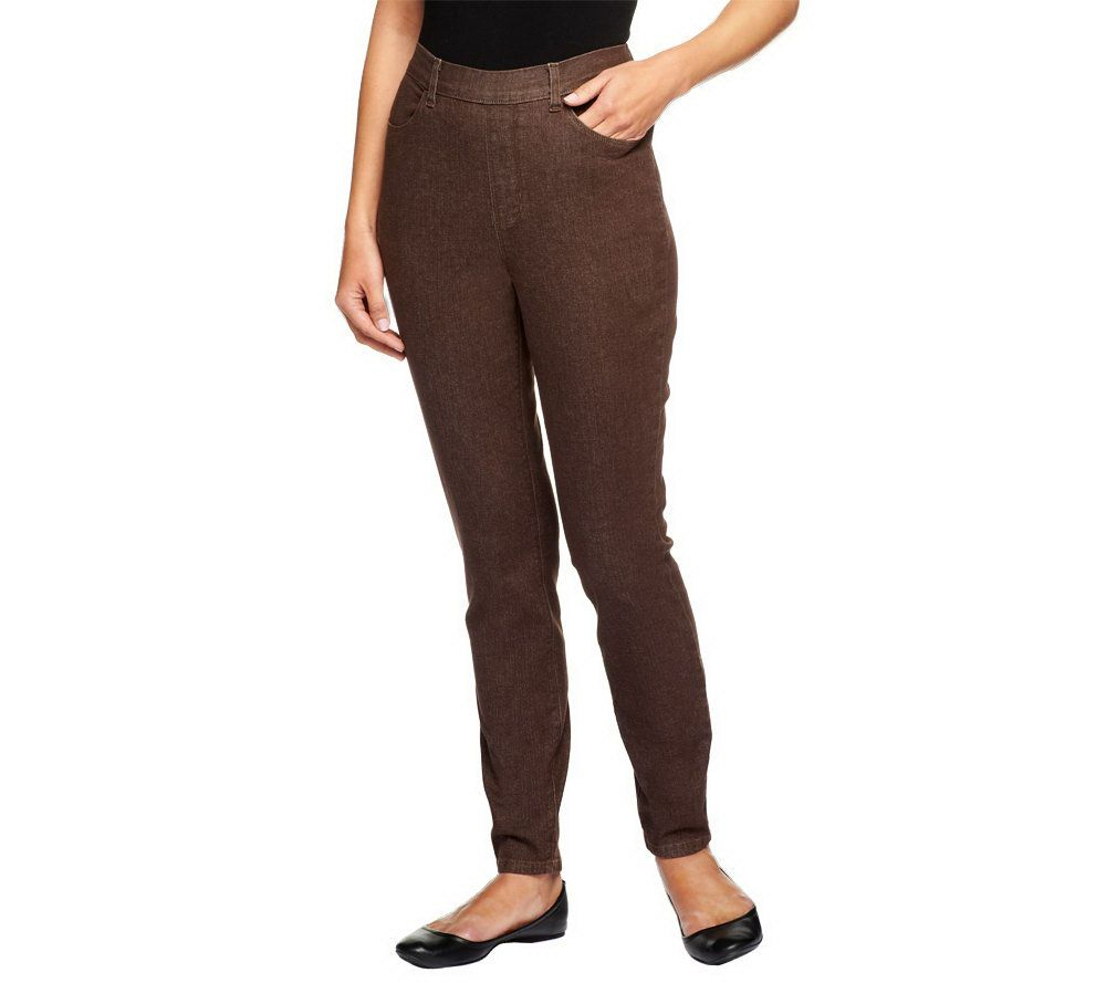 f6082445d5b Denim   Co. Petite Classic Waist Stretch Jeggings - Page 1 — QVC.com