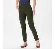 Women with Control Petite Slim Leg Ankle Pants w/ Waist Seams - A239672