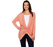 H by Halston Long Sleeve Crossover Cardigan - A276472