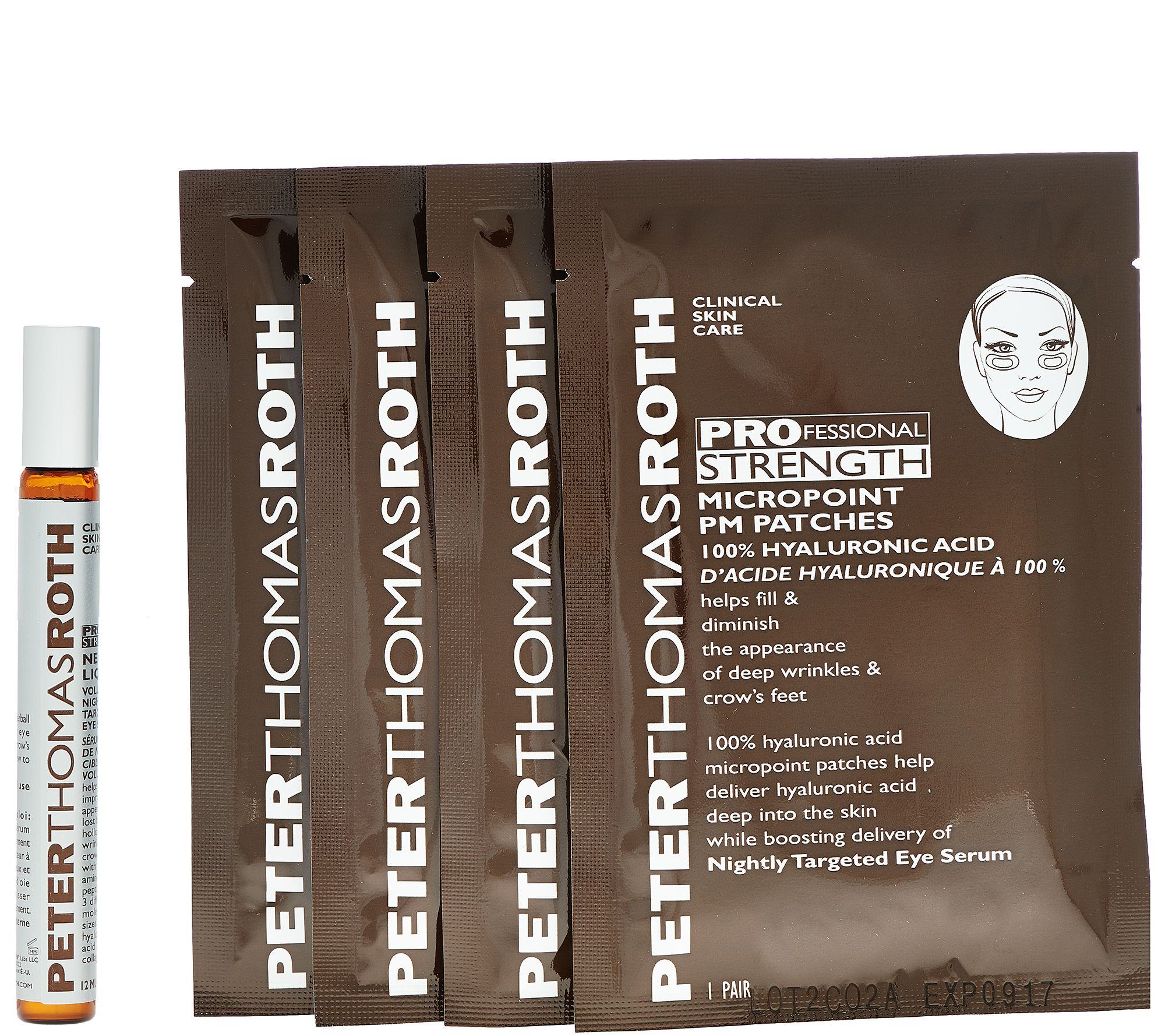 299d0545bd Peter Thomas Roth MicroPoint PM Patch System Eye Wrinkle Treatment - Page 1  — QVC.com