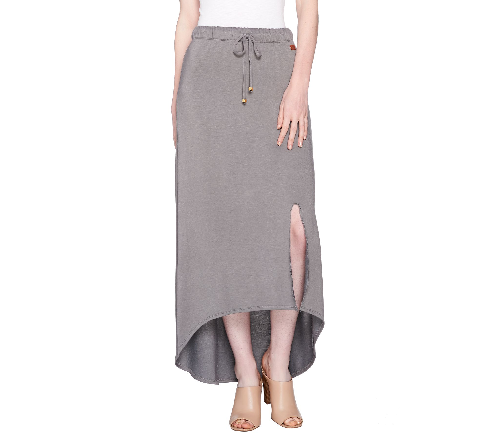 943636eba7 Peace Love World Hi-Low Hem French Terry Knit Maxi Skirt - Page 1 — QVC.com