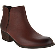 Clarks Artisan Leather Block Heel Ankle Boots - Maypearl Ramie - A297172