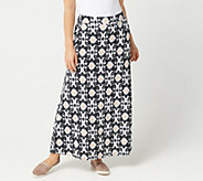 Belle By Kim Gravel TripleLuxe Knit Smoothing Waist Maxi Skirt - A303572