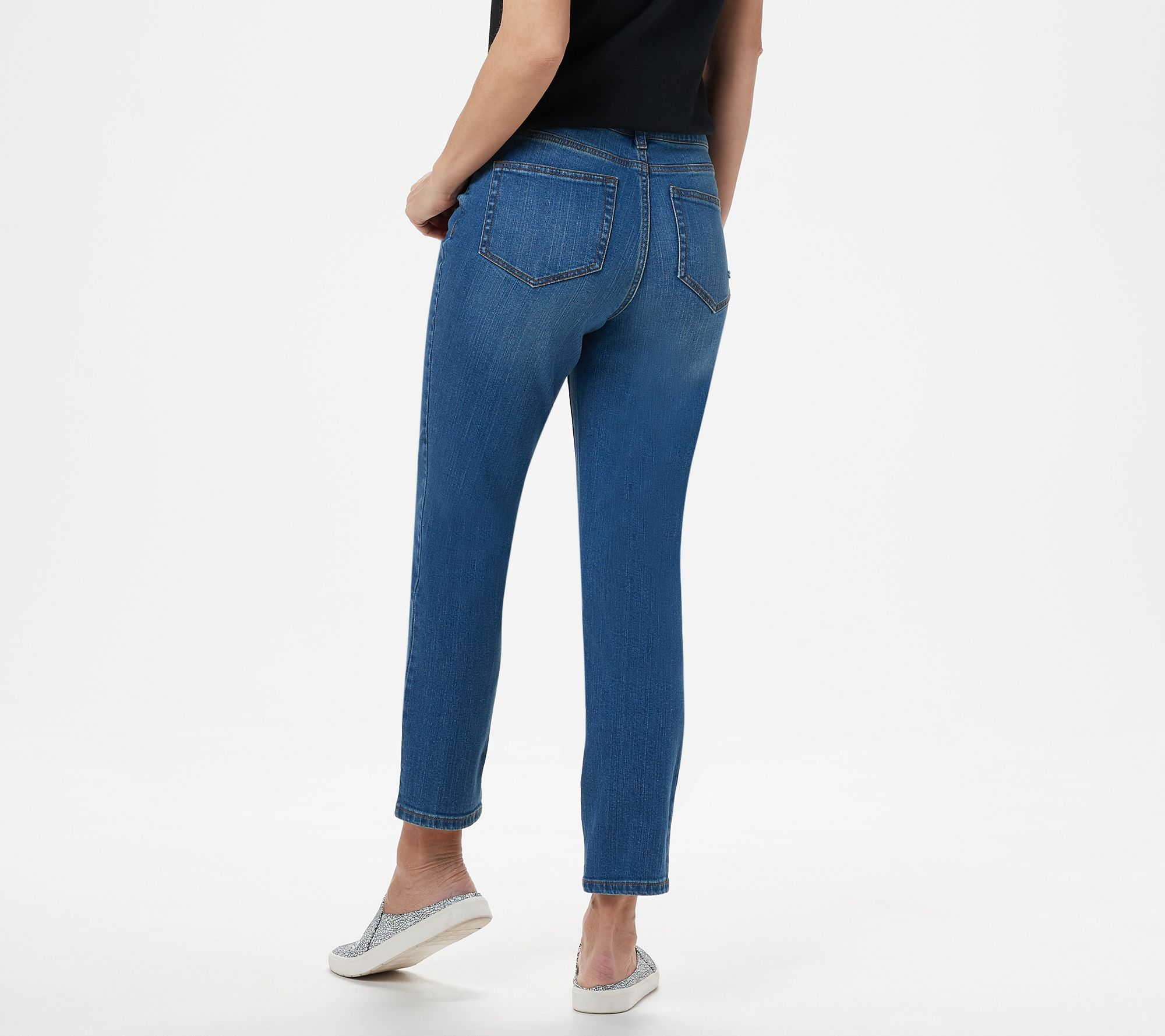 4aca7cc8f4 Studio by Denim & Co. Regular Classic Denim Ankle Jeans - Indigo ...