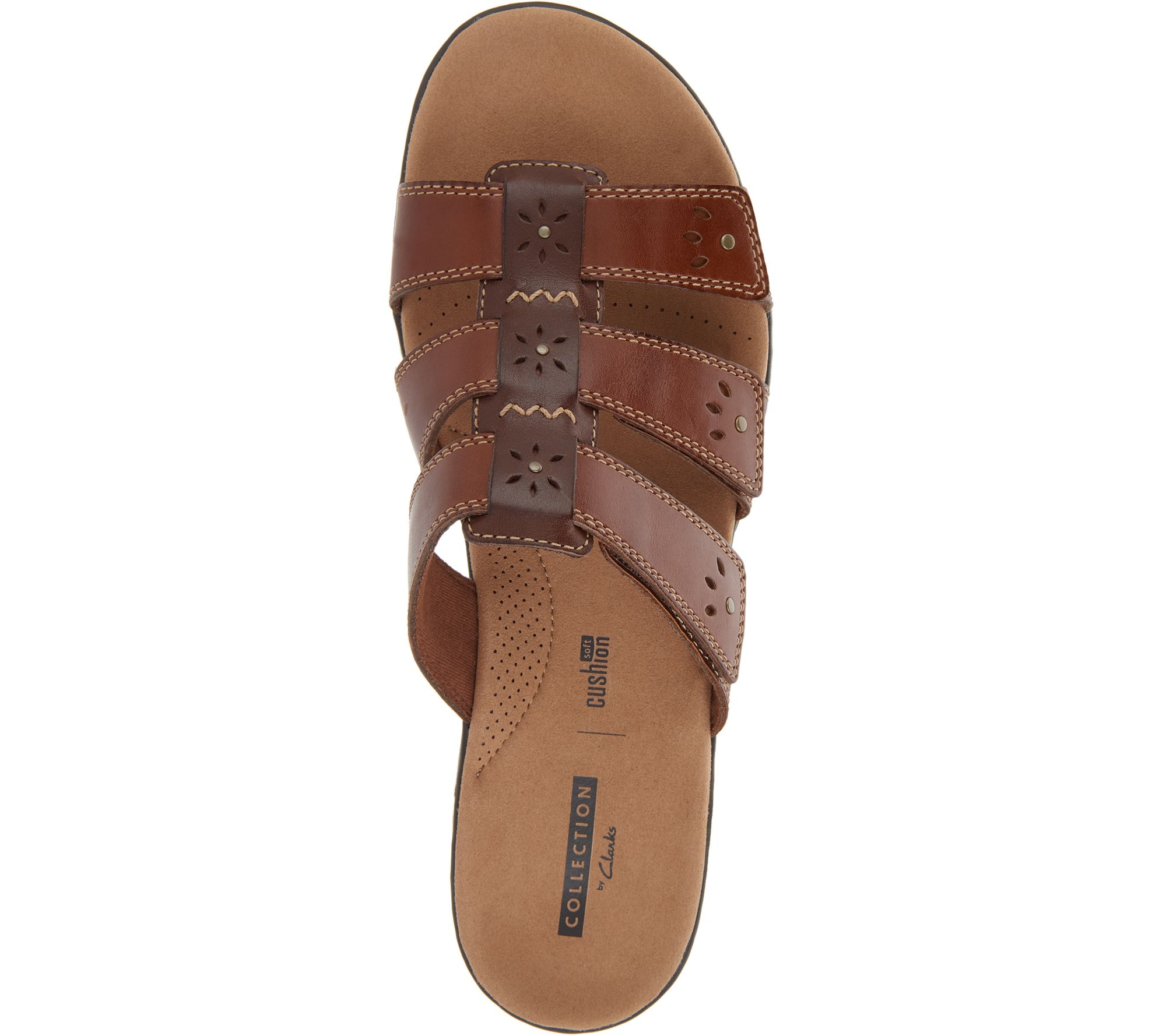 e593fdbb2330 Clarks Collection Leather Slide Sandals - Leisa Spring - Page 1 — QVC.com