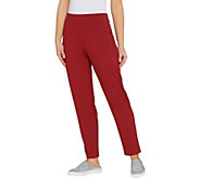 LOGO by Lori Goldstein Pull-On Straight Leg Knit Pants - A307272