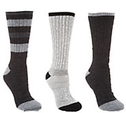 Catawba Set of 3 Merino Wool Blend Socks with Gift Box - A343272