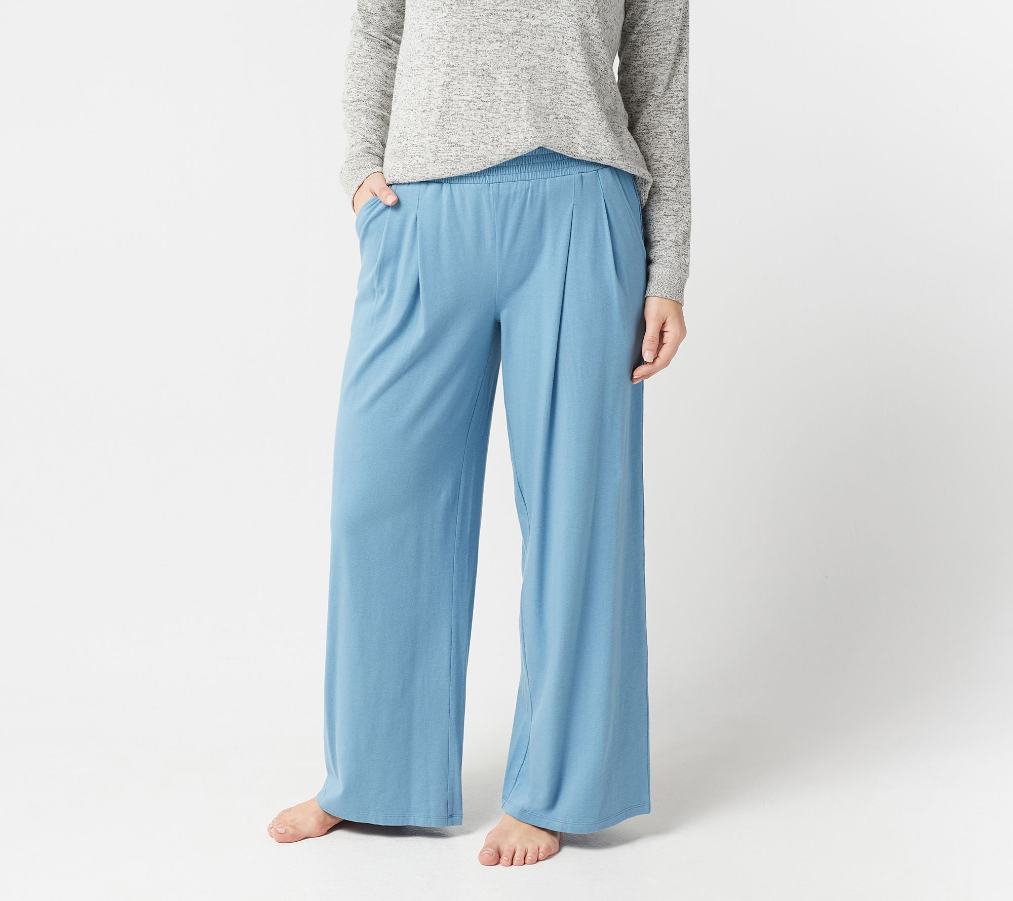 2e20fb3f0d2 AnyBody Loungewear Cozy Knit Wide-Leg Pants - Page 1 — QVC.com