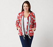 Susan Graver Weekend Printed French Terry Zip-Front Jacket - A350172