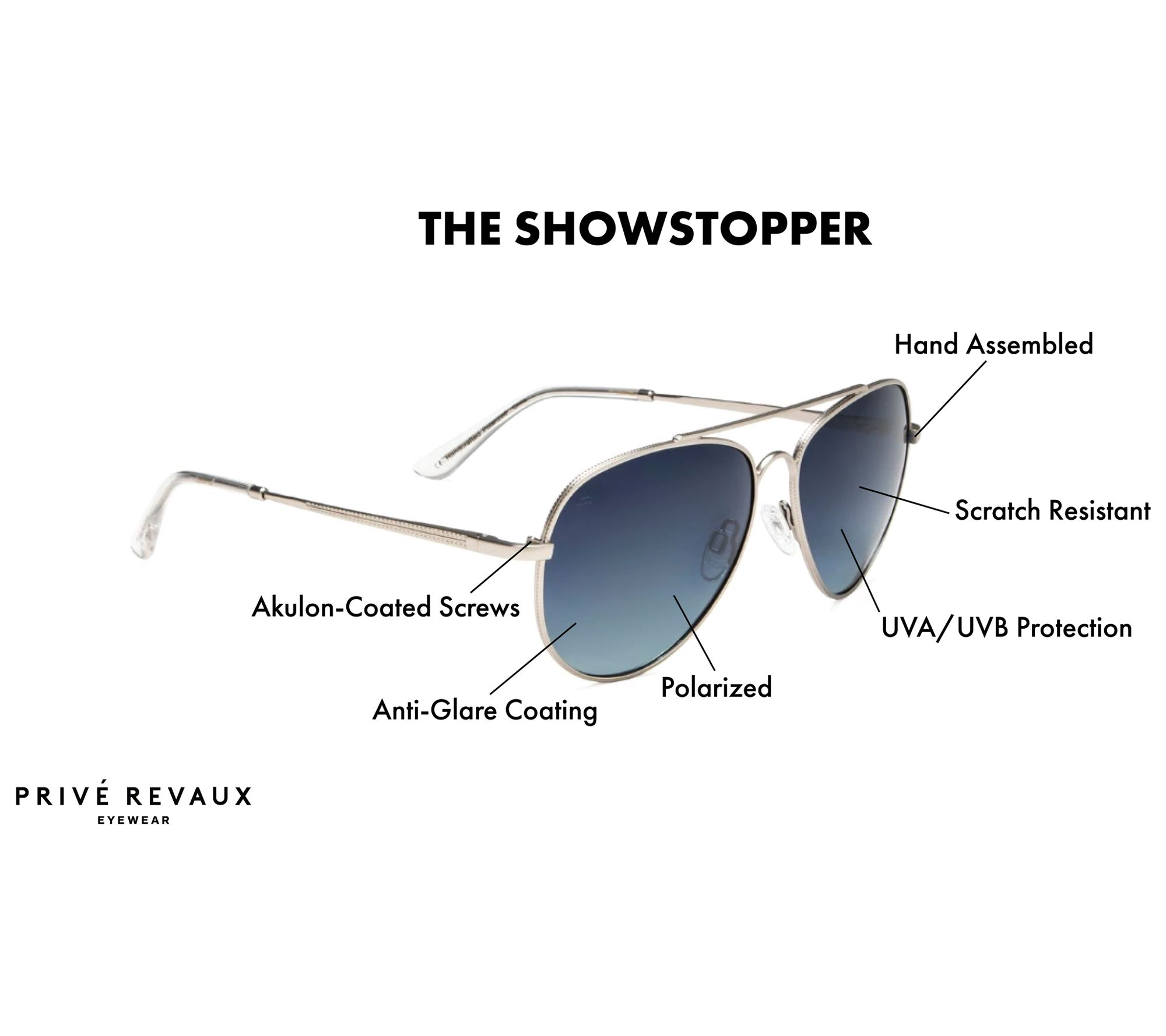 11355b9a89fbd Prive Revaux The Showstopper Polarized Sunglasses - Page 1 — QVC.com