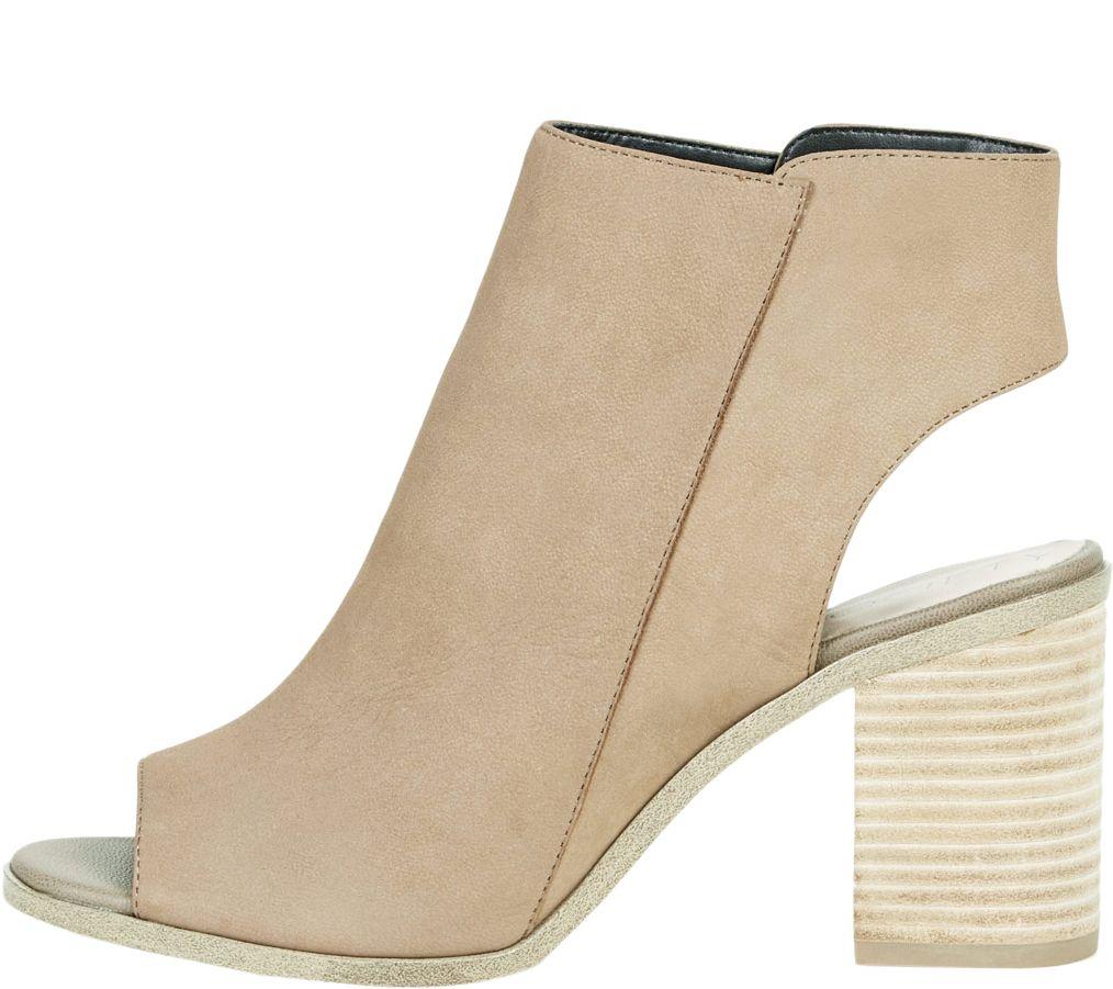 e86d83b0cb33 Sole Society Block Heel Peep-toe Booties - Arizona — QVC.com