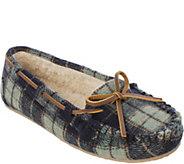 Minnetonka Plaid Flannel Pile Lined Slipper - Plaid Cally - A362672