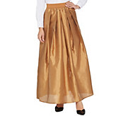 As Is Joan Rivers Petite Length Faux Dupioni Maxi Skirt - A366872