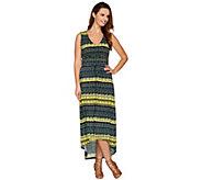 Kelly by Clinton Kelly Petite V-Neck Dress with Hi-Low Hem - A278473