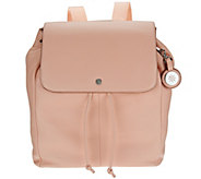 As Is Isaac Mizrahi Live! SOHO Pebble Leather Backpack - A278973