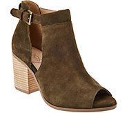 Sole Society Suede Peep-Toe Ankle Boots - Ferris - A279873