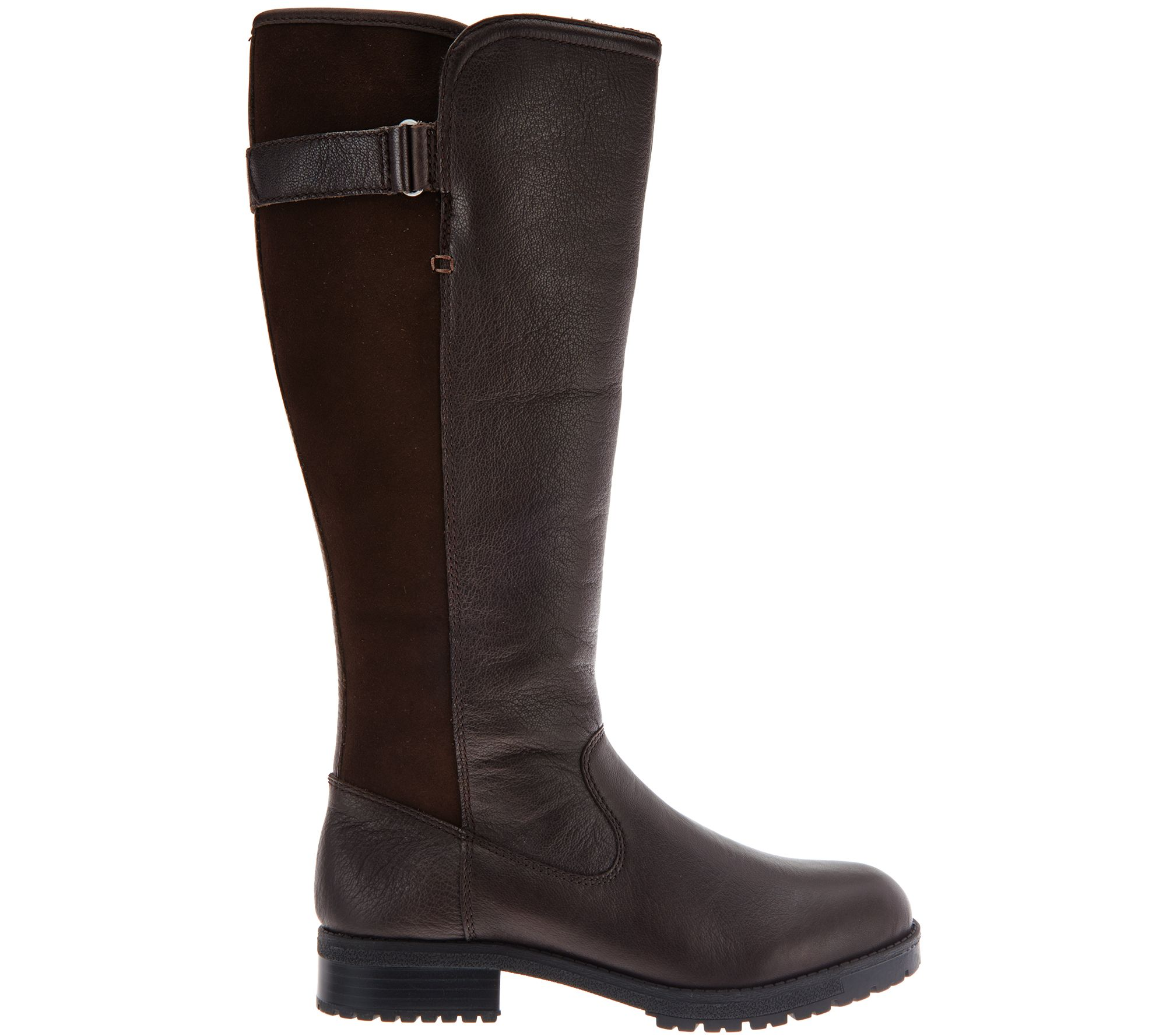 481c57d0bb4 Clarks Leather Waterproof Tall Shaft Boots - Faralyn May - Page 1 — QVC.com
