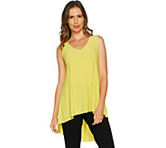 Attitudes by Renee Sleeveless Pleated Back Jersey Knit Top - A292373