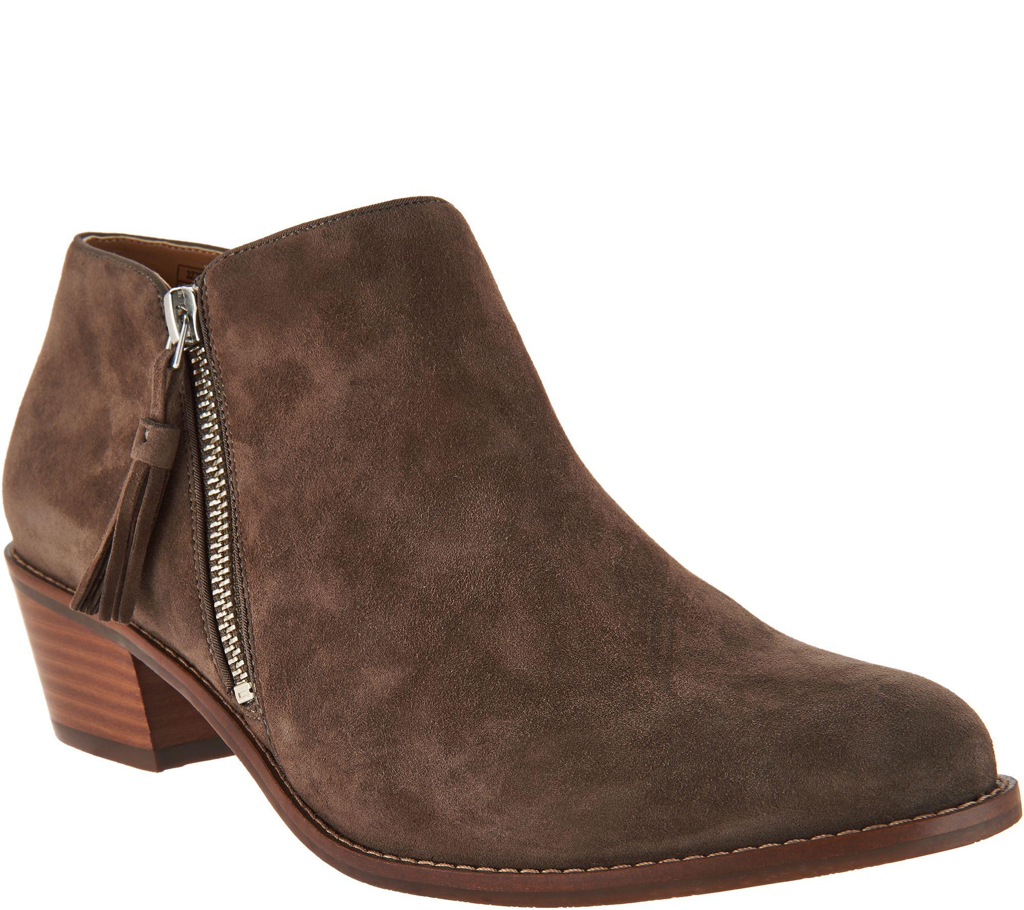875220e74a8 Vionic Suede Ankle Boots - Serena — QVC.com