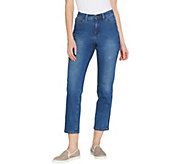 Studio by Denim & Co. Petite Classic Denim Shadow Stripe Jeans - A301773