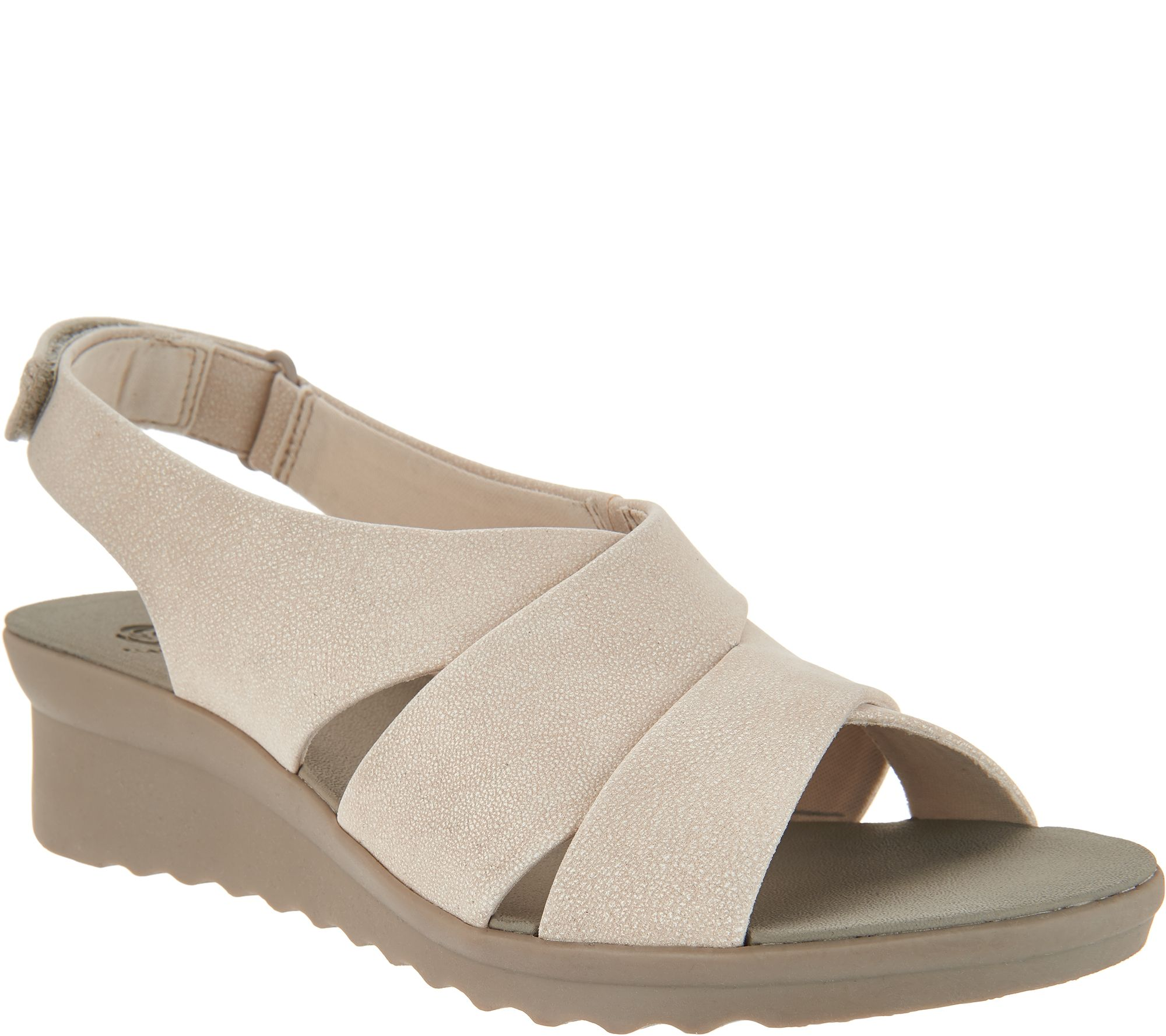 0d21c547023 CLOUDSTEPPERS by Clarks Wedge Sandals - Caddell Bright - Page 1 — QVC.com