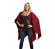 As Is Luxe Rachel Zoe Wrap Shawl with Fringe - A304773