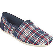 Skechers BOBS Plaid Slip-On Shoes - Plush - A309873