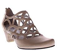 Spring Step Cutout Leather Heels - Lorca - A336773