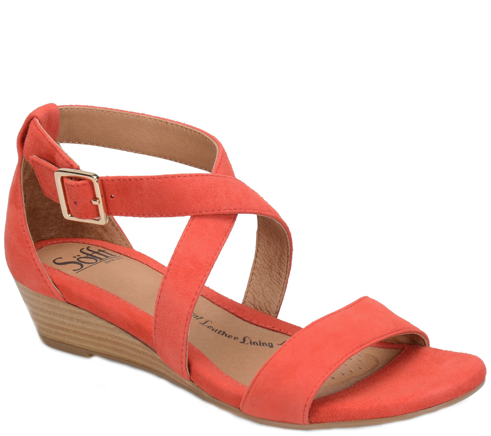 5c8d71666009 Sofft Leather Wedge Sandals - Innis - Page 1 — QVC.com