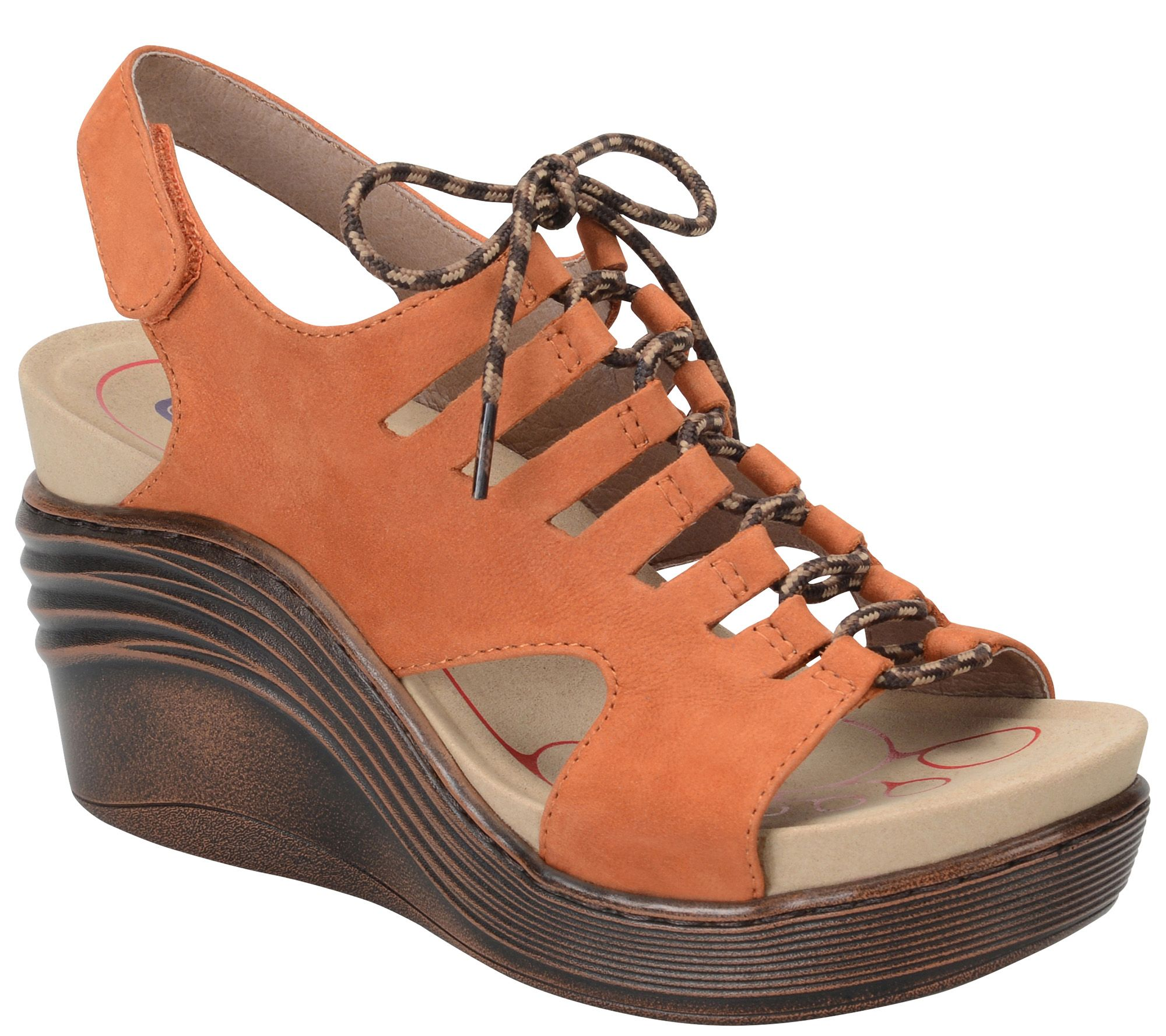 c71f3887f8e1 Bionica Lace-up Leather Wedge Sandals - Sirus - Page 1 — QVC.com