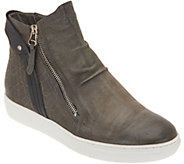 Miz Mooz Leather Zip-Up Sneakers - Lulu - A342073